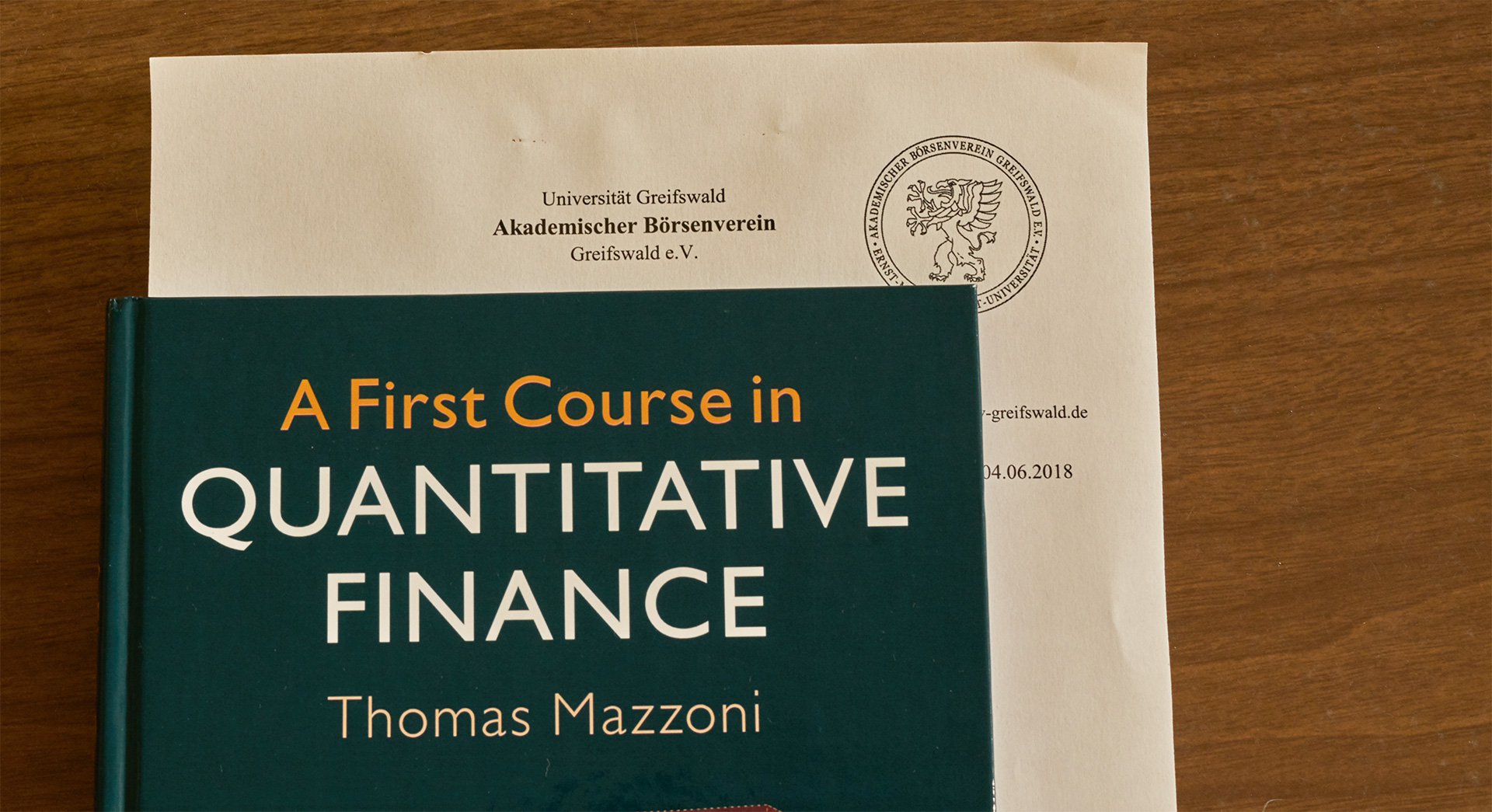 A First Course In Quantitative Finance Literaturhinweis